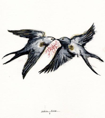 Serie Pájaros 7 / golondrinas